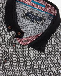 Ted Baker - Black Printed Polo Shirt for Men - Lyst