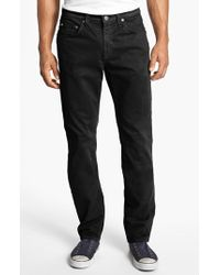 J Brand | Black 'kane' Slim Fit Cotton Twill Pants for Men | Lyst