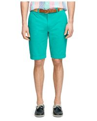 Brooks Brothers - Green Seersucker Bermuda Shorts for Men - Lyst