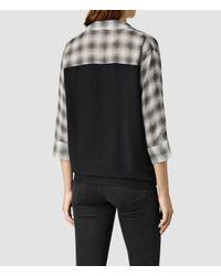AllSaints | Blue Elice Dean Shirt | Lyst