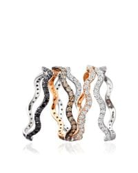 Astley Clarke | Pink Rose Gold Scroll Ring | Lyst