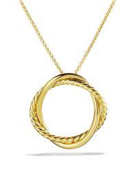 David Yurman - Yellow Infinity Medium Pendant In Gold On Chain - Lyst