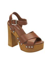 Nine West | Brown Deedee Platform Sandals | Lyst