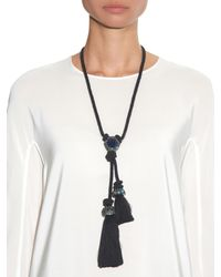 Lanvin - Blue Veruschka Crystal-Embellished Cord Necklace - Lyst