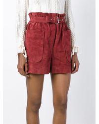 Philosophy Di Lorenzo Serafini - Red Belted High Waist Shorts - Lyst
