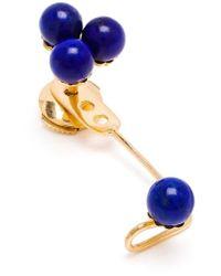 Yvonne Léon - Blue 18Kt Gold And Lapis 'Epingle' Earring - Lyst