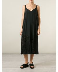 N°21 - Black Short Sleeve Lace Dress - Lyst
