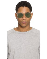 Ray-Ban - Metallic Fabric Wrapped Classic Aviators for Men - Lyst