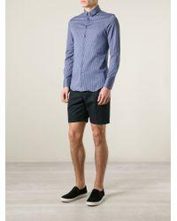 Giorgio Armani | Blue Striped Slim Fit Shirt for Men | Lyst