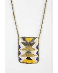 Urban Outfitters - White Woven Seed Bead Necklace - Lyst