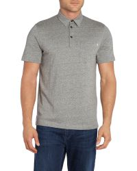 Farah | Gray Wallingham Regular Fit One Pocket Logo Polo Shirt for Men | Lyst