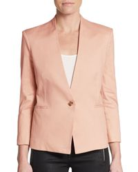 Helmut Lang | Natural Woven Single-button Blazer | Lyst