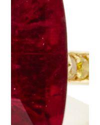 Paolo Costagli - Red Cushion Shape Pink Tourmaline And Yellow Diamond Ring - Lyst
