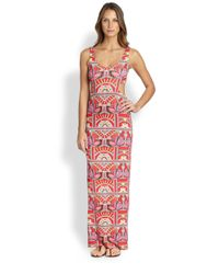 Mara Hoffman - Pink Ananda Cut-out Maxi Dress - Lyst