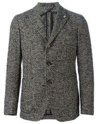 Tagliatore - Black Tweed Blazer for Men - Lyst