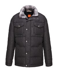 BOSS Orange - Gray 'ogaile-w' | Down Quilted Field Jacket for Men - Lyst