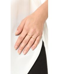 Pamela Love | Metallic Moonage Ring | Lyst