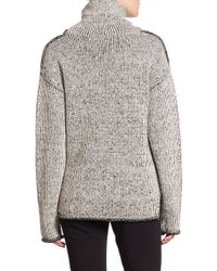 Theory - Gray Tessalee Wool/cashmere Sweater - Lyst
