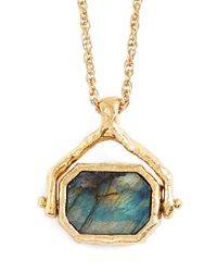 Alexis Bittar | Green 'quoi' Pendant Necklace | Lyst