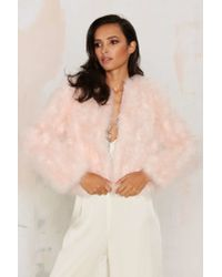 Nasty Gal - Pink J.o.aUnder The Feather Jacket - Lyst