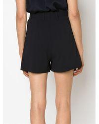 Victoria, Victoria Beckham - Blue High Waisted Shorts - Lyst