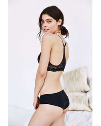 Urban Outfitters | Black Lace Racer Back Bra | Lyst
