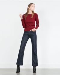 Zara   Black Round Neck Sweater   Lyst