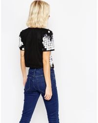 ASOS | Black Top With Mono Embellishment | Lyst