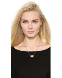Pamela Love | Metallic Luna Reveal Pendant Necklace - Moonstone/antique Gold | Lyst