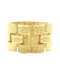 House of Harlow 1960 | Metallic Warrior Tiles Link Bracelet | Lyst