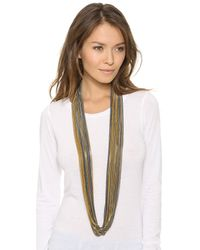 Bex Rox | Gray Multi Strand Long Chain Necklace - Gold/gunmetal | Lyst