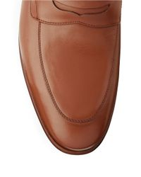 A.Testoni | Brown Leather Dress Slip-ons for Men | Lyst