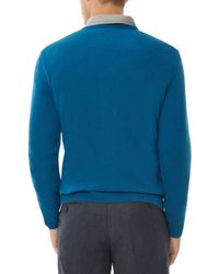 Jaeger | Blue Cashmere V-neck Sweater for Men | Lyst