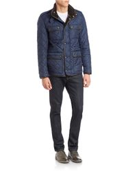 Cole Haan | Blue Quilted Four-pocket Field Jacket for Men | Lyst