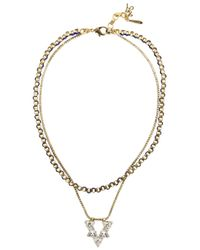 John & Pearl | Metallic Nova Gold Plated Swarovski Necklace | Lyst