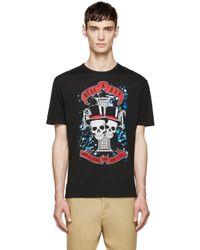 DSquared² - Black Rock Skulls T_shirt for Men - Lyst