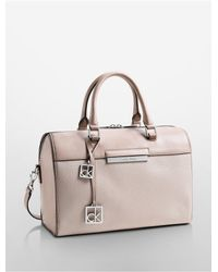 Calvin Klein | Natural White Label Valerie Sleek Satchel | Lyst