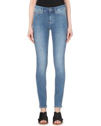 M.i.h Jeans - Blue The Bodycon Skinny High-rise Jeans - Lyst