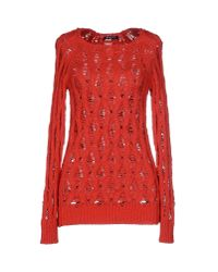 Balmain - Red Sweater - Lyst