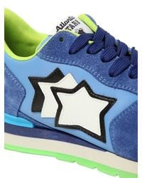 Atlantic Stars - Blue Suede & Nylon Running Sneakers for Men - Lyst