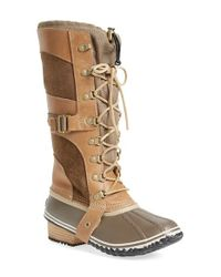 Sorel | Brown 'conquest Carly' Boot | Lyst