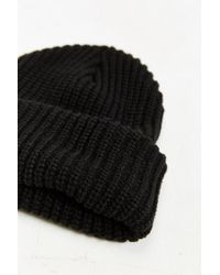 Urban Outfitters - Black Lumberjack Cuffed Beanie for Men - Lyst