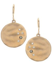 Kenneth Cole | Metallic Gold-tone Crystal Circle Drop | Lyst