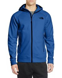 The North Face | Blue 'nacio' Active Fit Full Zip Fleece Hoodie for Men | Lyst