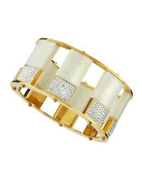 Lele Sadoughi - Metallic Slip-on Marble & Pave Bangle - Lyst