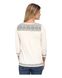 Lucky Brand | Gray Placed Embroidery Tee | Lyst