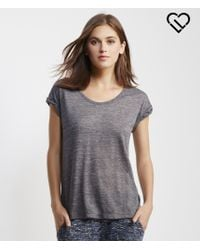 Live Love Dream | Gray Lld Slub Cuffed Tee | Lyst
