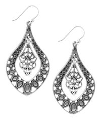 Lucky Brand | Metallic Silvertone Drop Pendant Earrings | Lyst