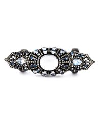 Monan - Black Large Gothic Style Ring - Lyst