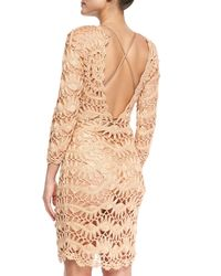Meskita - Multicolor See-through Metallic Crochet Coverup Dress - Lyst